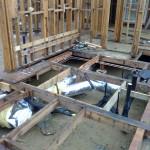 under floor master bathroom plumbing