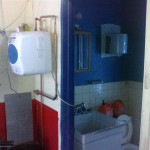 Utility sink and 4 gal electric water heater